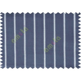 Dark blue with white line american main cotton curtain designs