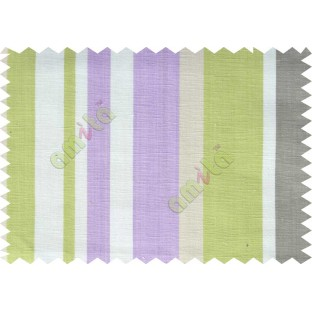 Lime green purple white stripes beautiful main cotton curtain designs