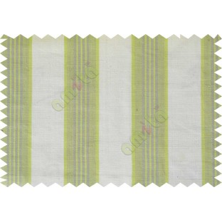 Lime green white equal stripes main cotton curtain designs