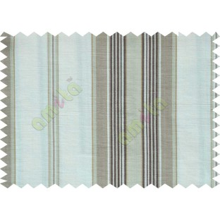 Brown white chocolate brown stripes main cotton curtain designs