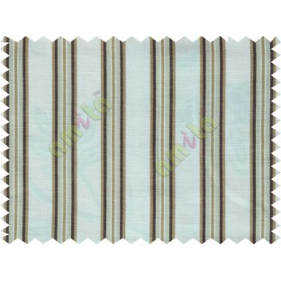 White beige brown stripes main cotton curtain designs