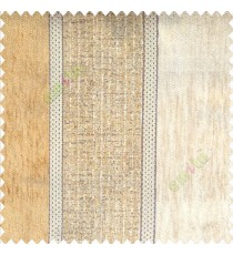 Beige gold color bold vertical stripes texture finished chenille soft and rough touch jute weaving embossed soft lines poly sofa fabric