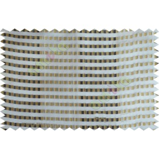 Black beige white color semi transparent fab with horizontal thick fab stripes and parallel color stripes poly sheer curtains design - 104410