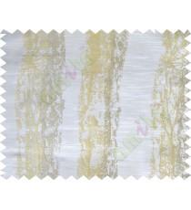 Beige gold white colour vertical texture colour paint with horizontal pencil stripes poly main curtains design - 104422
