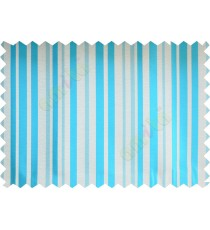 Aqua blue beige shiny candy stripes poly fabric main curtain designs