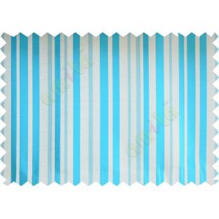 Aqua blue beige shiny candy stripes poly fabric main curtain designs