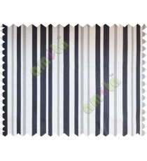 Black white beige shiny candy stripes poly fabric main curtain designs