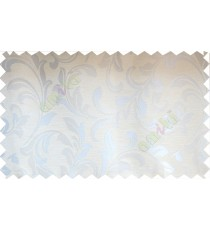 Beige silver traditional leafy poly fabric main curtain designs