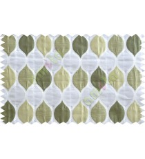 Green gold silver color moroccan pattern poly main curtains design - 104532
