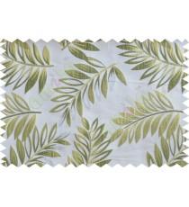 Green gold silver beige color elegant leaf pattern poly main curtains design - 104534