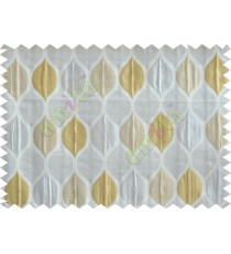 Gold silver beige color moroccan pattern poly main curtains design - 104542