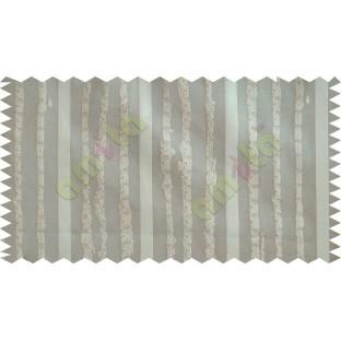 Brown Vertical Stripes Poly Fabric Main Curtain-Designs