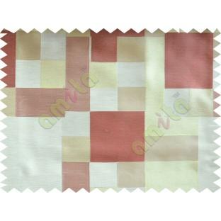 Brick Yellow Green Beige Placemat Blocks Poly Fabric Main Curtain-Designs