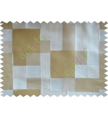 Yellow Green Beige Placemat Blocks Poly Fabric Main Curtain-Designs
