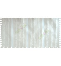 Green Beige Vertical Stripes Poly Fabric Main Curtain-Designs