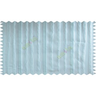 Blue Vertical Stripes Poly Fabric Main Curtain-Designs