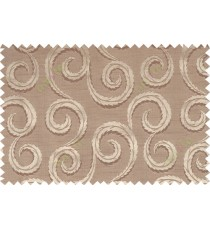 Brown gold color seamless traditional design with thick background fab polycotton main curtain designs