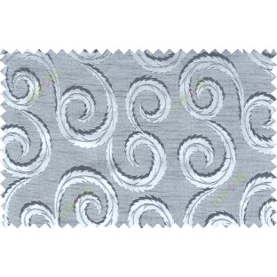 Black grey color seamless traditional design with thick background fab polycotton main curtain designs