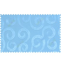 Sky blue color seamless traditional design with thick background fab polycotton main curtain designs