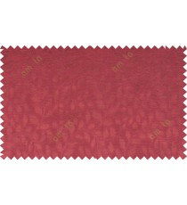 Pure maroon color seamless natural leaf pattern with horizontal pencil stripes polycotton main curtain designs