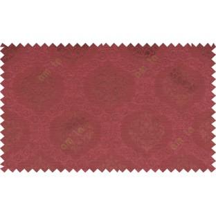 Pure maroon color beautiful seamless damask pattern polycotton main curtain designs
