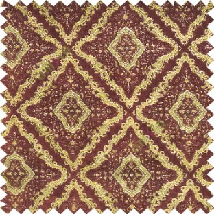 Walnutt Brown Gold Color Traditional Moroccan Pattern Texture Surface