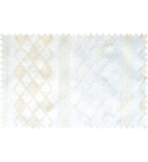 White beige color safavieh moroccan pattern with stripes poly sheer curtain - 112482