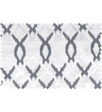 Black white color tamara trellis moroccan poly sheer curtain - 102489