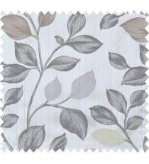 Yellow black purple brown colour beautiful natural floral design polycotton main curtain designs