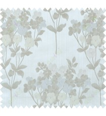 Beige brown grey natural floral design polycotton main curtain designs