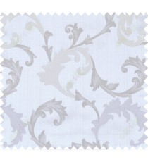 Grey beige green colour floral paisley design polycotton main curtain designs