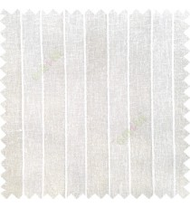 Pure white color vertical parallel stripes texture finished with polyester transparent net finished base fabric small texture gradients sheer curtain