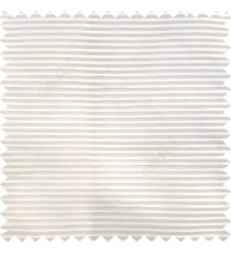 Cream color horizontal bold and strong stripes on transparent polyester background fabric sheer curtain