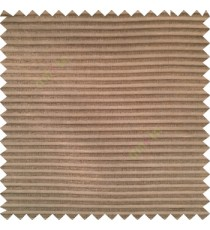 Dark chocolate brown color horizontal bold and strong stripes on transparent polyester background fabric sheer curtain
