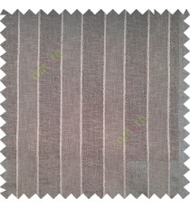 Dark grey color vertical parallel stripes texture finished with polyester transparent net finished base fabric small texture gradients sheer curtain