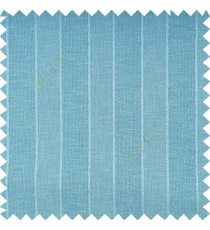 Blue color vertical parallel stripes texture finished with polyester transparent net finished base fabric small texture gradients sheer curtain