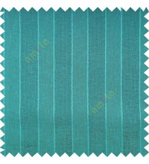 Aquamarine blue color vertical parallel stripes texture finished with polyester transparent net finished base fabric small texture gradients sheer curtain