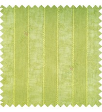 Lime green color vertical parallel stripes texture finished with polyester transparent net finished base fabric small texture gradients sheer curtain