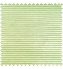 Lime green color horizontal bold and strong stripes on transparent polyester background fabric sheer curtain