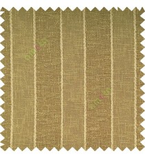 Dark yellowish green color vertical parallel stripes texture finished with polyester transparent net finished base fabric small texture gradients sheer curtain