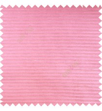 Pink color horizontal bold and strong stripes on transparent polyester background fabric sheer curtain