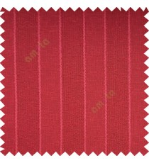 Red color vertical parallel stripes texture finished with polyester transparent net finished base fabric small texture gradients sheer curtain