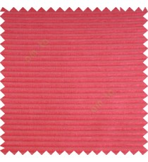 Red color horizontal bold and strong stripes on transparent polyester background fabric sheer curtain