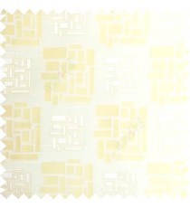 Beige color rectangular and cube shapes geometric patterns horizontal lines polyester main curtain fabric