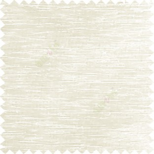 Cream color solid plain designless surface transparent horizontal lines see through net polyester sheer curtain fabric
