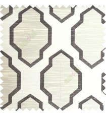 Black beige color traditional pattern horizontal lines ogee design polyester main curtain fabric