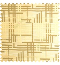 Gold green color vertical and horizontal crossing lines abstract pattern puzzle lines texture finished polyester main curtain fabric