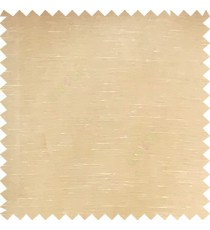 Beige color solid plain designless surface transparent horizontal lines see through net polyester sheer curtain fabric
