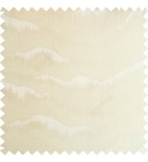 Beige color horizontal flowing waves texture finished sound waves vertical hanging lines polyester main curtain fabric