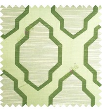Green beige color traditional pattern horizontal lines ogee design polyester main curtain fabric
